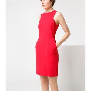 Mango red sheath dress